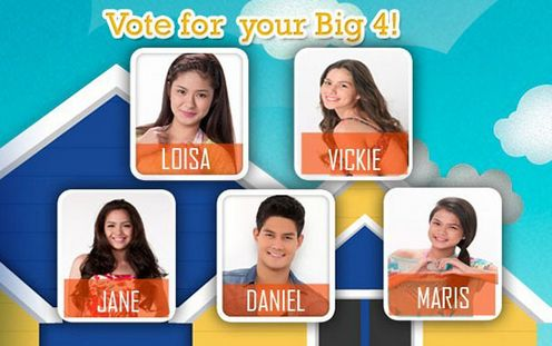 How to Vote for PBB All In Big Four (4) Featuring Loisa, Maris, Jane, Vickie & Daniel