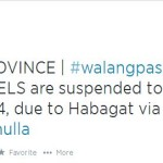 "LGU's Declared ""No Classes"" on August 5, 2014 Due to Habagat"