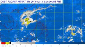 PAGASA: Low Pressure Area (LPA) Spotted Southeast of Mindanao (December 11)