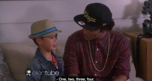 Pinoy YouTube Sensation Kai Langer Performed with Idol Bruno Mars on Ellen Show