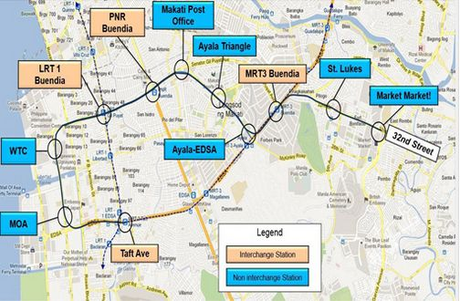 Manila Subway Map.Manila S First Subway Six Other Projects Approved By Neda