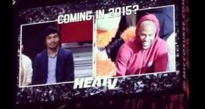 Manny Pacquiao & Floyd Mayweather Jr. Met for the First Time During NBA Game