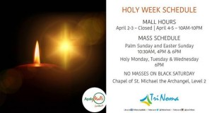 Mall Hours & Schedules for Holy Week 2015 Holidays
