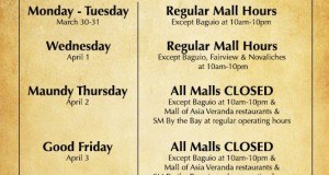 SM Mall Hours & Complete Schedules for Holy Week 2015
