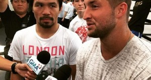 Tim Tebow Visits Manny Pacquiao Before Mayweather Fight