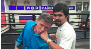 Stallone Visits Pacquiao Camp, Receives A Good Punch