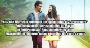 """""""Forevermore"""" Thanksgiving Concert Cancelled Due to Environmental Concerns"""