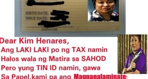Netizen's Message to BIR Secretary Kim Henares for His TIN ID Went Viral