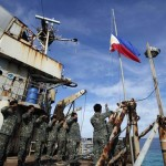 Philippine Troops Repairs Crumbling BRP Sierra Madre in the Disputed South China Sea