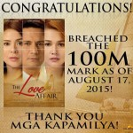 """Star Cinema's """"The Love Affair"""" Movie Earns P100-million in Box Office Income After Six Days"""