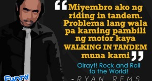 The Best Quotes of Funny One Winner Ryan Rems Sarita (Rock en Roll to the World)