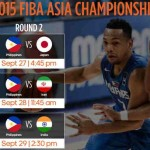 Gilas Pilipinas Schedule of Games in the Second Round of FIBA Asia 2015