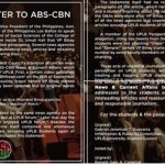 ABS-CBN Apologized to UPLB After the Controversial Binay Stories