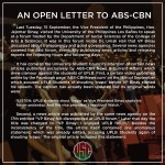 UPLB's Open Letter to ABS-CBN Went Viral (#ABSCBNSaySorryToUPLB)