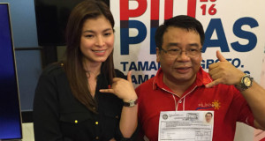 Rep. Neri Colmenares Runs for Senator Supported by Cousin Angel Locsin