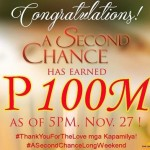 """""""A Second Chance"""" Earned P100 Million Box Office Income in Just Three Days"""