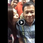 Mayor Duterte Nearly Kiss a Beautiful Supporter in Davao City (Viral Video)
