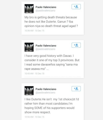 Paolo Valenciano Reveals Brother Gab Received Death Threats After
