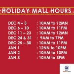 SM Malls Schedules for Christmas 2015 & New Year 2016