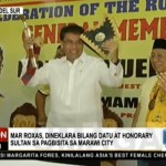 Mar Roxas Enthroned as Datu by the Sultanate in Lanao del Sur (Video)