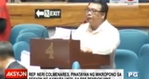 (Viral Video) Rep. Neli Colmenares' Microphone Went Off During Session