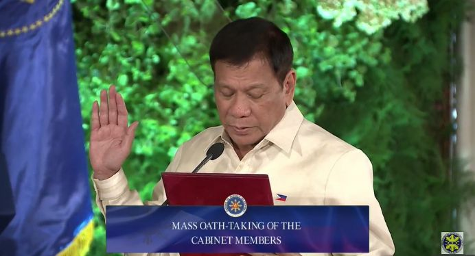 Pres Rody Duterte S Final Complete List Of Cabinet Members