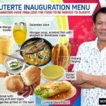 Menu During the Inauguration of Pres. Duterte Revealed to the Public