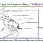 Carina Intensifies Into A Tropical Storm