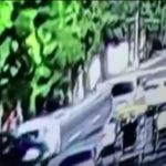 Mitsubishi Mirage Car Accident Caught In CCTV Footage