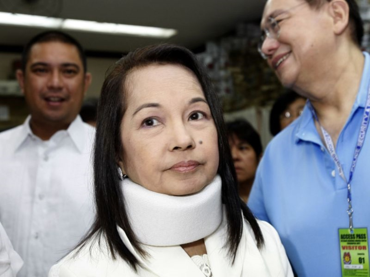 Gloria Macapagal Arroyo arrived
