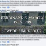 Photo Stating Permission To Pee On Marcos' Grave Goes Viral In Social Media