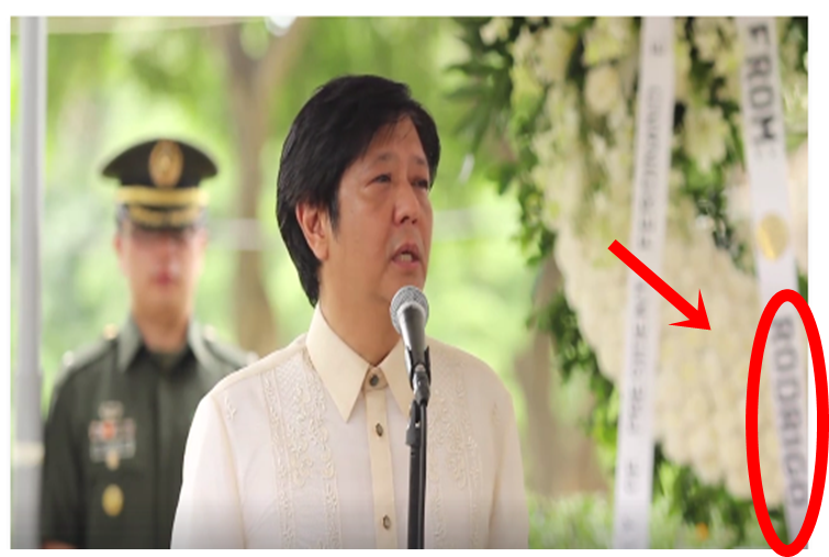 Flowers From Duterte Spotted At Marcos Burial Angered Netizens