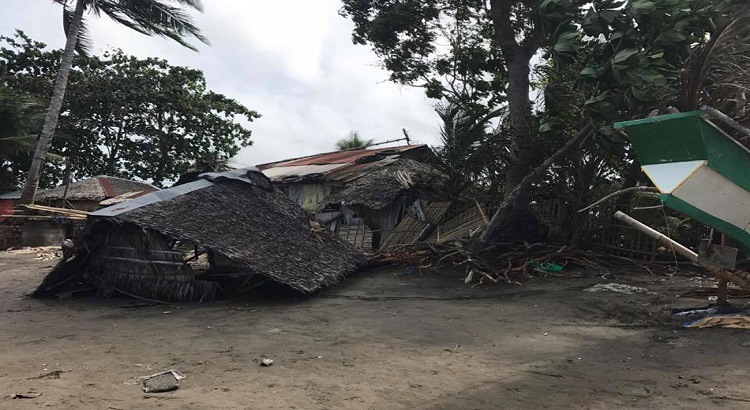 house destroyed by strong winds