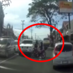 Viral!: Counterflowing Pinoy SUV Driver Crashes Car Into Motorcycle In Tanza, Cavite