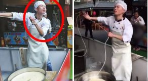 This Ordinary Chinese Noodle Vendor Breaks Social Media With His Amazing Dancing Skills