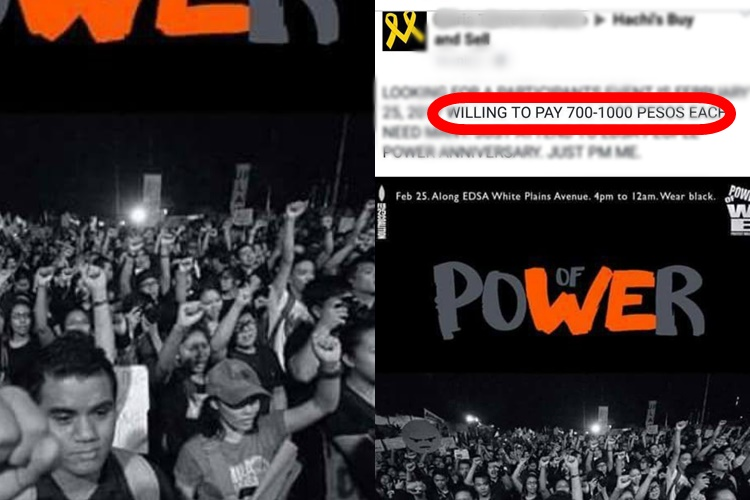 Look: Netizen Willing To Pay Money Just To Attend EDSA People Power Anniversary On February 25