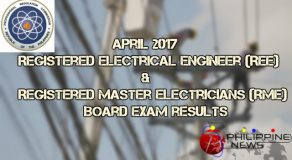 April 2017 REE and RME Board Exam Top Performing and Performance of Schools (Full List)