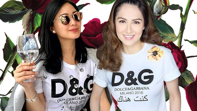 the truth behind the fake d g shirt of marian rivera. Black Bedroom Furniture Sets. Home Design Ideas