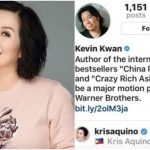"Kris Aquino to Star in the Hollywood Movie Adaptation of ""Crazy Rich Asians"""