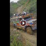 WATCH: Jeepney Tries to Cross a Mountainous and Slippery Road in Tineg, Abra (Viral Now)