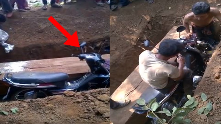 Motorcycle Buried