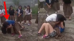 Watch: Young Female Students Engage In Violent Street Fight