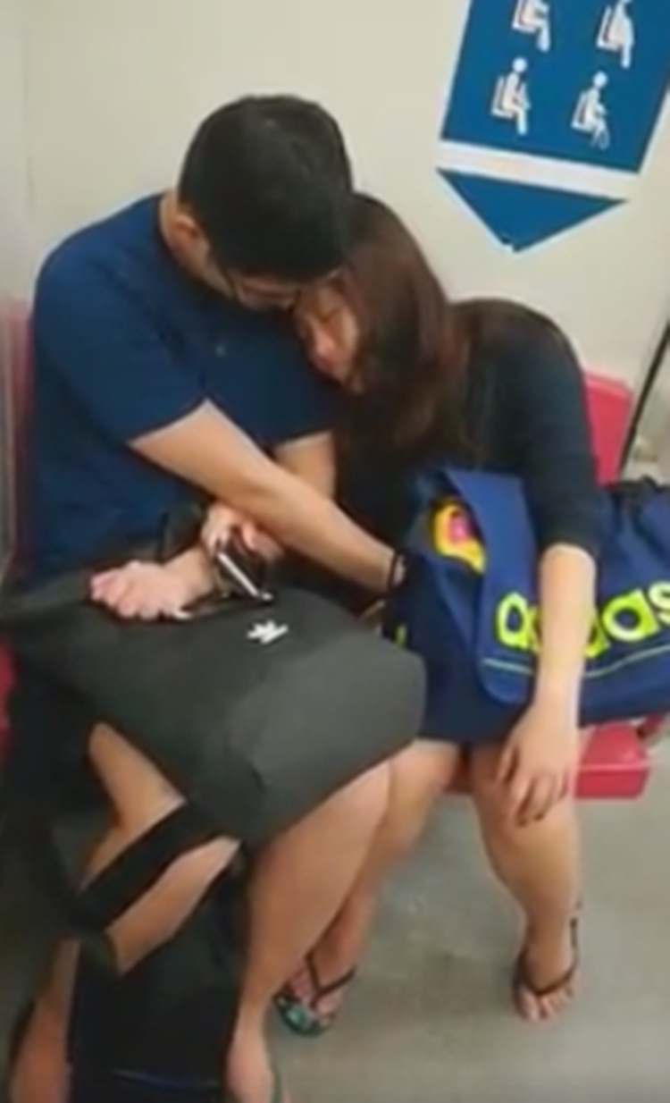 Couple Spotted Doing Something Unusual Inside Public Train Caught