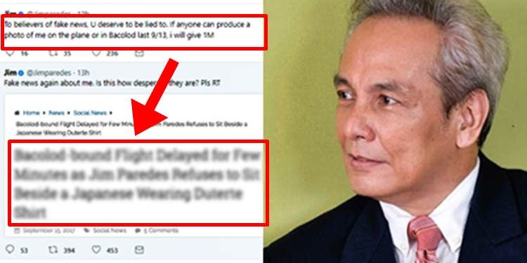 "Jim Paredes Breaks Silence On Alleged Scandal Video: Jim Paredes In Outrage Over ""Fake News"" Written About Him"