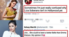 "Fil-Am Model Kelsey Merritt Says Liza Soberano As Better ""Belle"" Than Emma Watson"