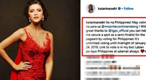 Here's How To Vote PH Bet Katarina Rodriguez In Miss Intercontinental 2017
