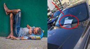 Poor Man Accidentally Scratches Luxurious Car, Leave Note That Touches Owner's Heart