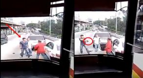 Road Rage Incident Between Armed Motorist, Taxi Driver Caught On Camera