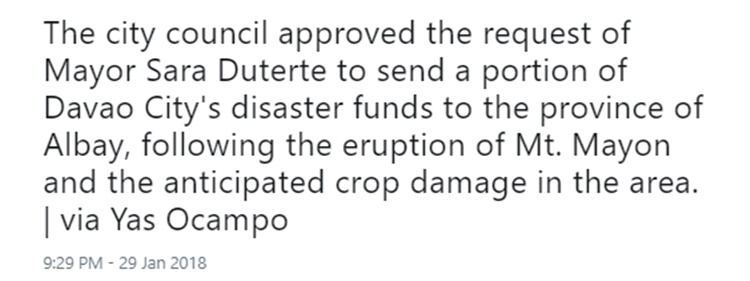 Davao Disaster Funds