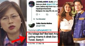 "Cathy Garcia-Molina's ""Super Honest"" Comments About JaDine Love Team Ignite Tension Between JD Fans"